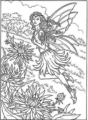 293x400 Printable Coloring Pages For Adults Fairies