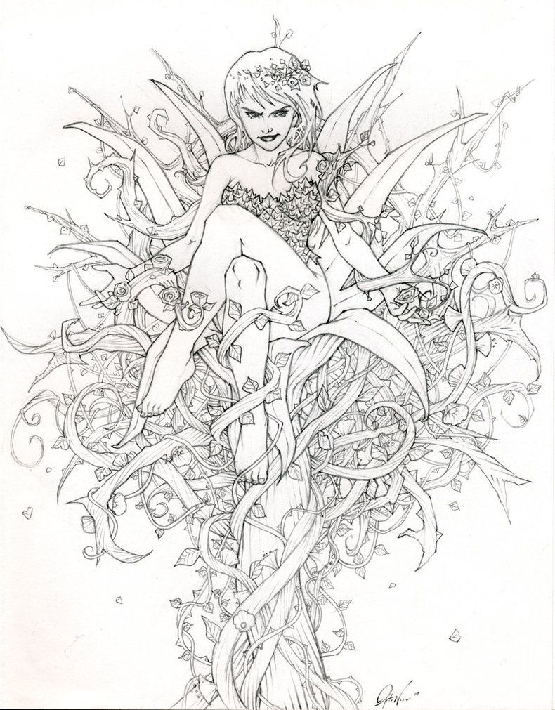790x1011 Fairy Adult Coloring Page Coloring Pages Colorear