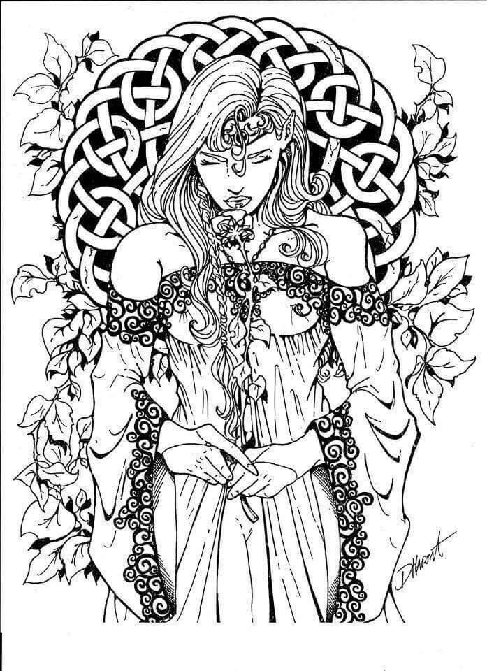 697x960 Adult Fantasy Coloring Pages Fascinating Best Fairy Coloring