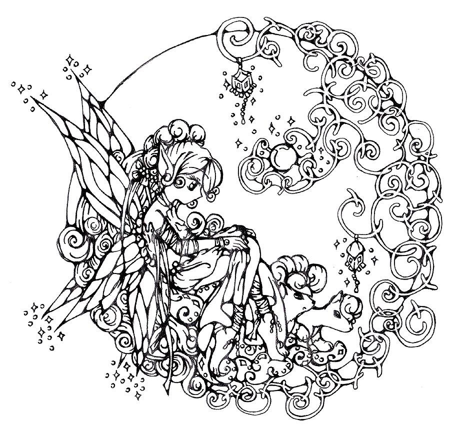 900x856 Adult Printable Coloring Pages Fairy Coloring Book