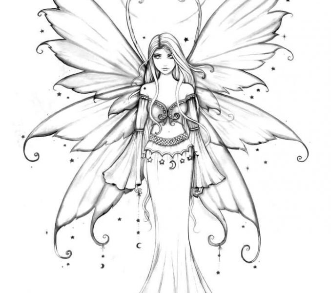 Fairy Coloring Pages at GetDrawings.com   Free for personal use ...