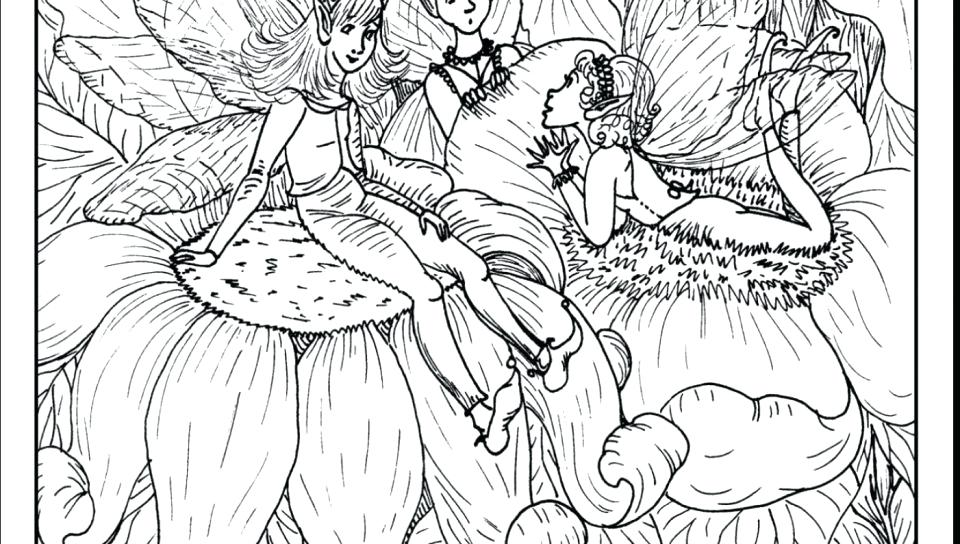 Fairy Coloring Pages For Adults At Getdrawings Com Free For