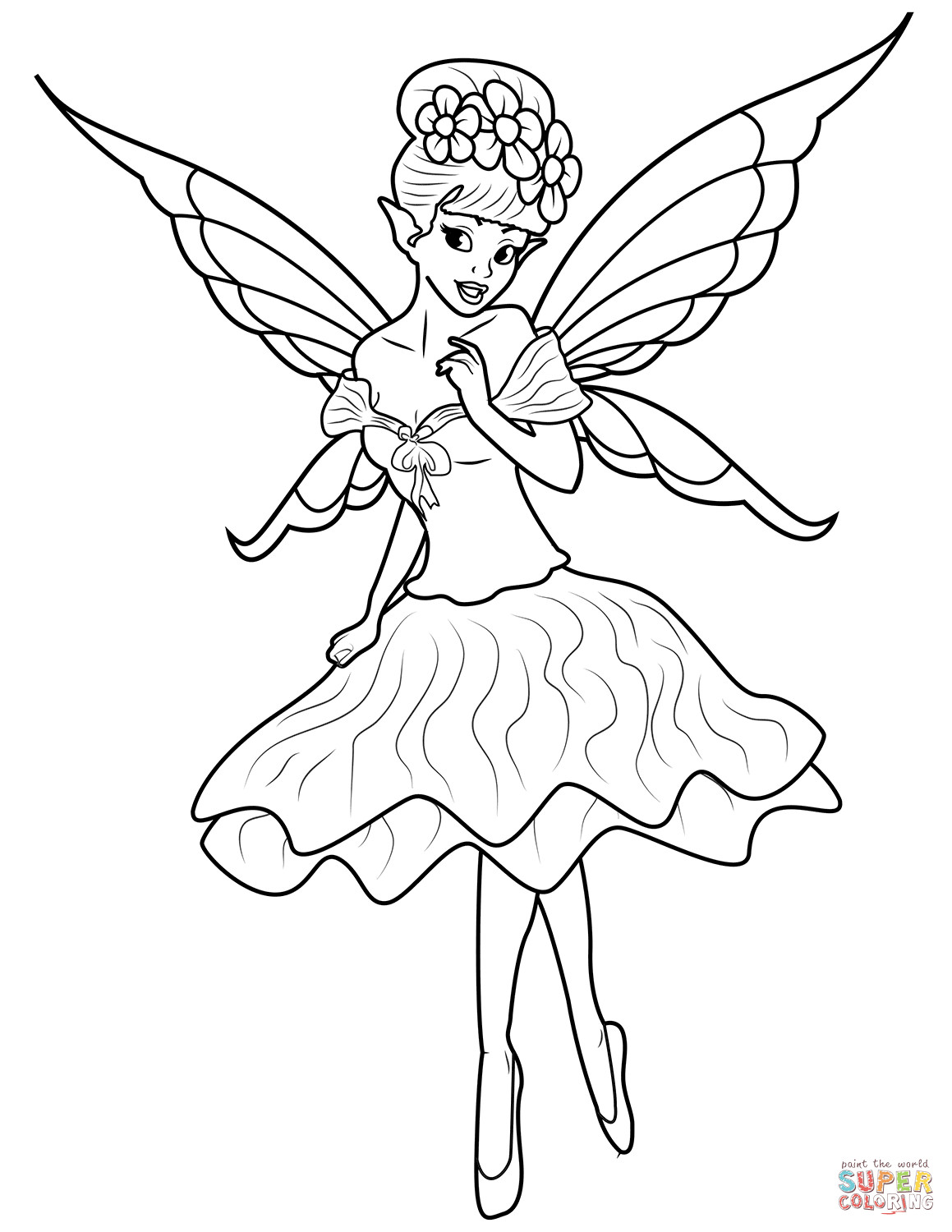 1159x1500 Fairy Coloring Pages Free For Girls