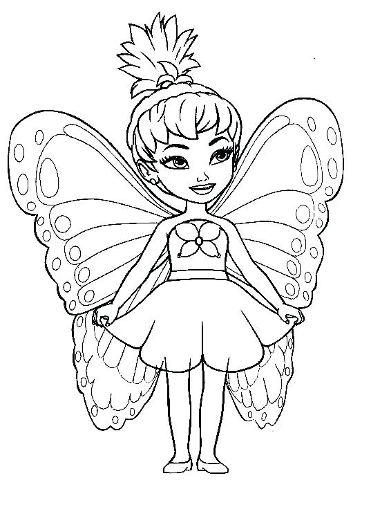 537x730 Fairy Princess Coloring Pages Fairy Coloring Book Barbie Fairy