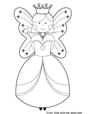 291x377 Free Disney Cute Fairy Coloring Pages Printable For Girlsfree