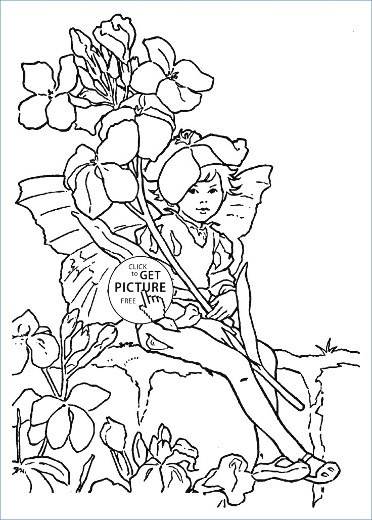 736x1029 Letter S For Strawberry Flower Fairy Coloring Page