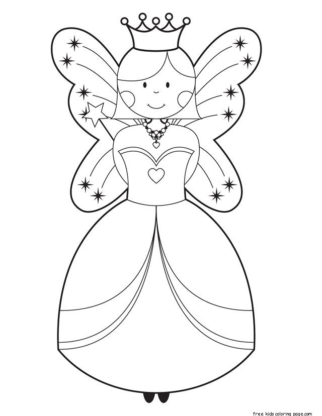 640x828 Printable Cute Fairy Coloring Pages For Girls