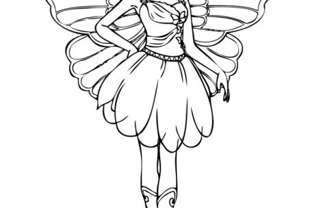 469x304 Barbie Fairy Coloring Pages For Girls Just Colorings