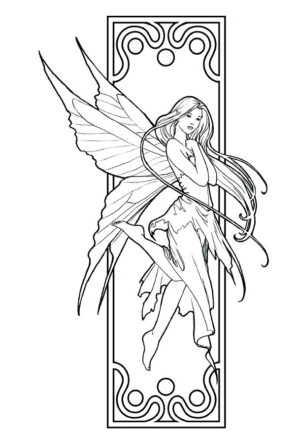 605x876 Printable Coloring Pages Of Fairies