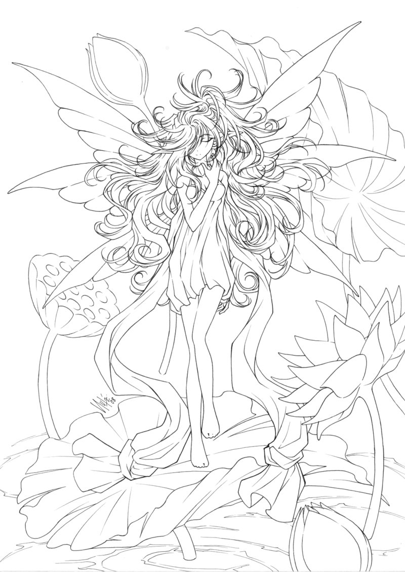 800x1128 Epic Anime Fairy Coloring Pages For Your Books With To Adults