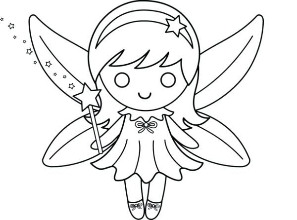 600x446 Fairy Coloring Pages Fairy Coloring Pages For Kids Fairy Coloring