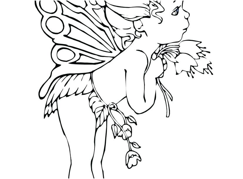 827x609 Fairy Coloring Pages For Kids Beautiful Fairy On Water Coloring