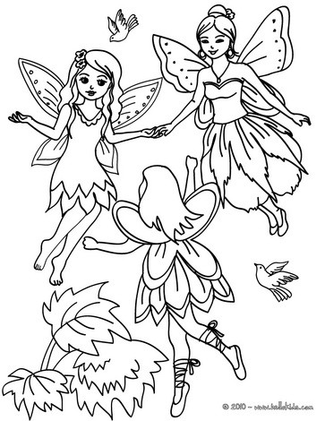 363x470 Flying Fairy Coloring Pages