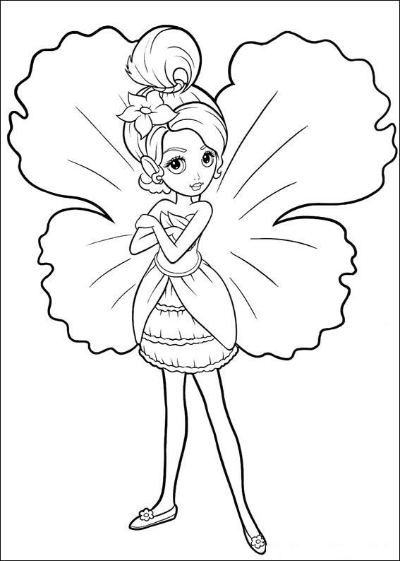 567x794 Pretty Fairy Coloring Pages