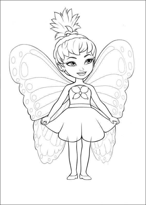 567x794 Fairy Coloring Pages