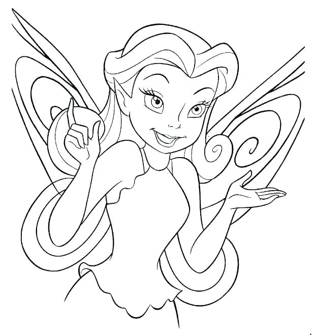 618x659 Disney Fairy Coloring Pages Fairy Printable Coloring Pages