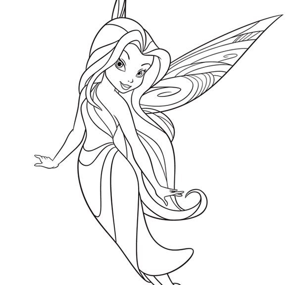 600x576 Fairy Coloring Pages