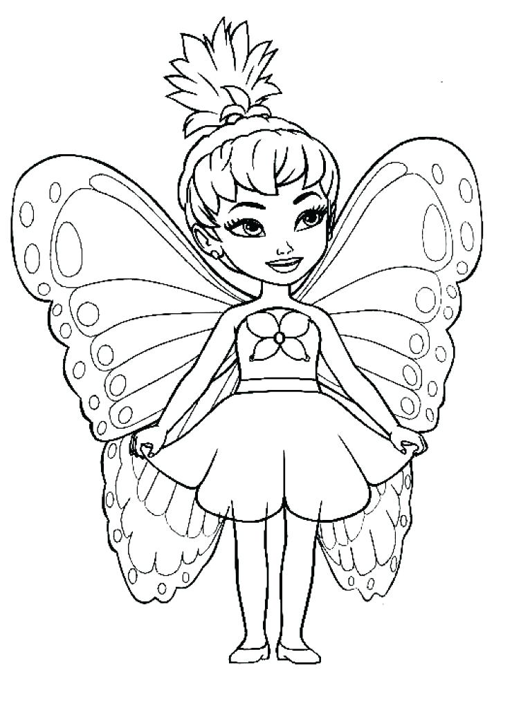 753x1024 Fairy Coloring Pages For Kids Fairy Coloring Pages Cute Fairy