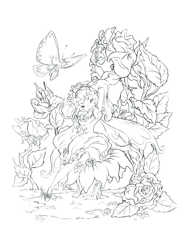 631x770 Free Fairy Coloring Pages For Adults Fairy Coloring Pages Free