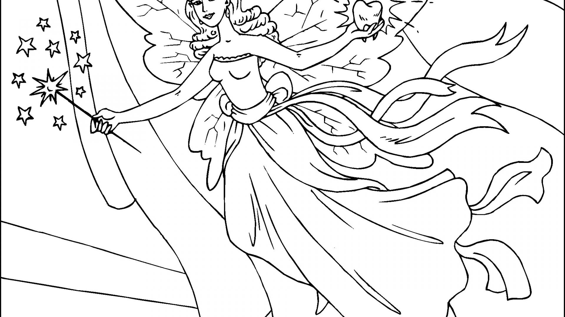 Fairy Coloring Pages Online at GetDrawings | Free download