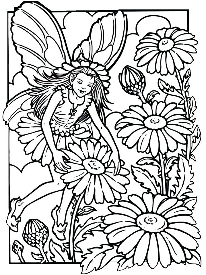 718x957 Superb Various Adult Fairy Coloring Pages Online Free Downloads