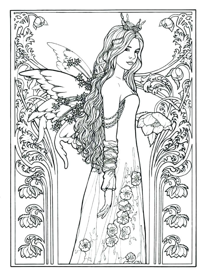 700x933 Coloring Pages Free Fairy Coloring Page