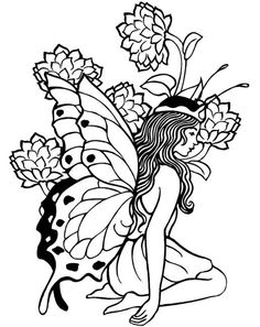 236x297 Fairy Coloring Pages For Adults Enchanted Designs Fairy