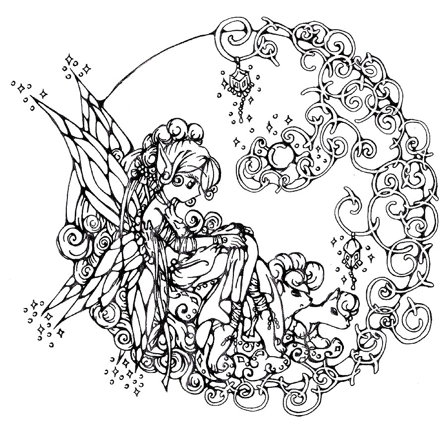 900x856 Fantasy Coloring Pages