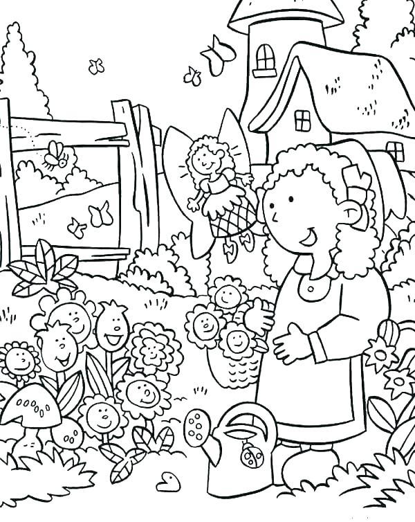 600x754 Garden Coloring Page Garden Coloring Pages Vegetable Garden