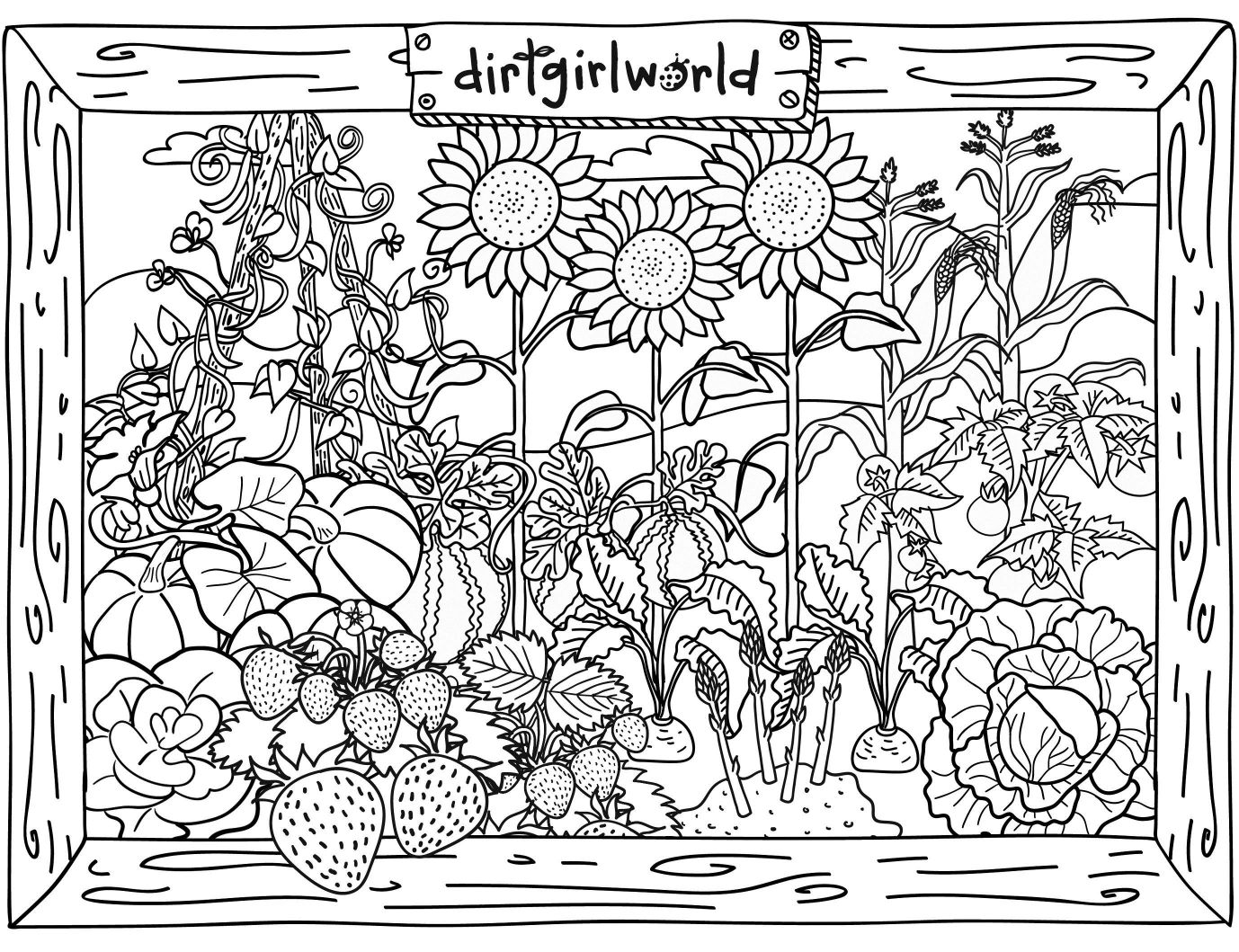 1378x1059 Shocking Garden Coloring Pages Rco Picture For Trends And Fairy