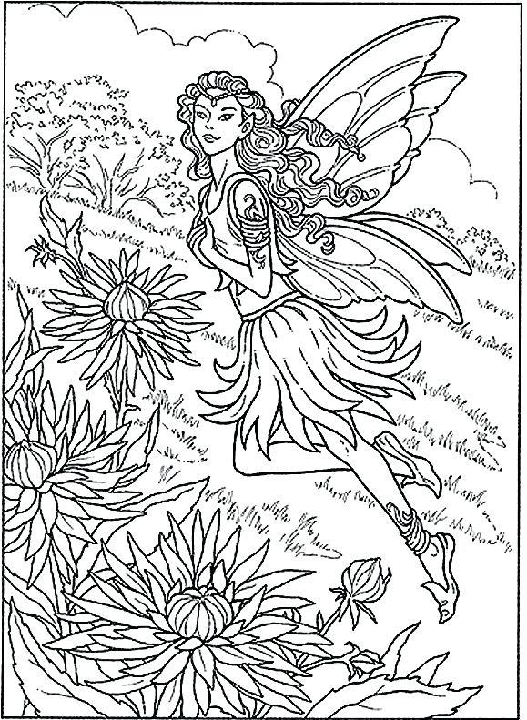 579x791 Garden Coloring Page
