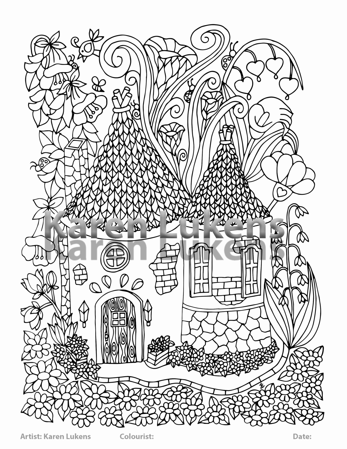 Fairy House Coloring Pages At Getdrawings Free Download