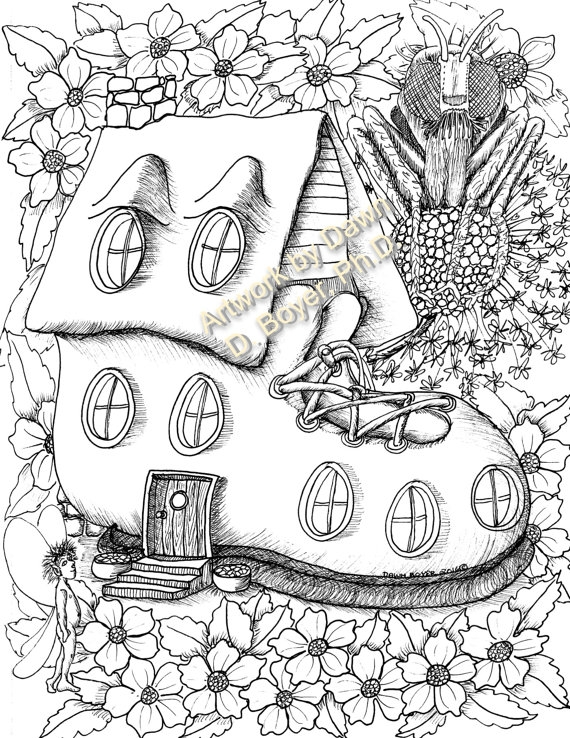 570x738 Coloring Pages Fairy House Fairy House Coloring Pages Fairy Houses