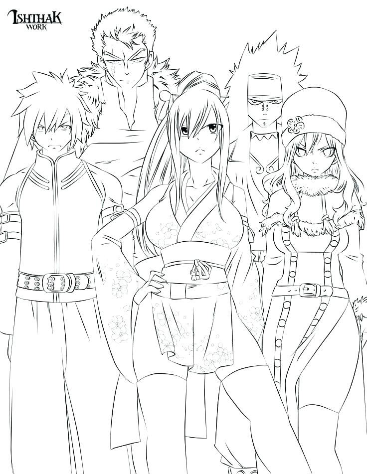 736x951 Fairy Tail Coloring Pages Fairy Tail Coloring Pages Anime Best