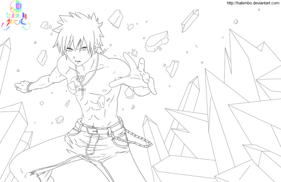 900x583 Fairy Tail Coloring Pages