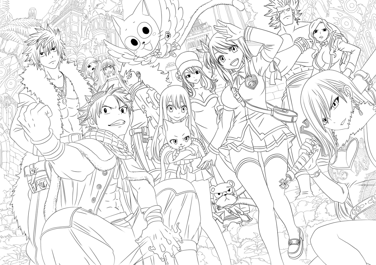 1200x848 Fairy Tail Coloring Pages
