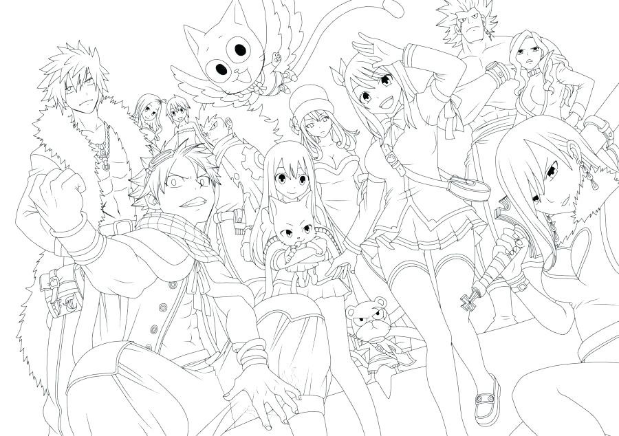 900x634 Fairy Tail Coloring Pages Unique Fairy Tail Coloring Pages Fairy