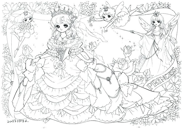 736x523 Fairy Tale Coloring Page Anime Coloring Pages For Adults Packed