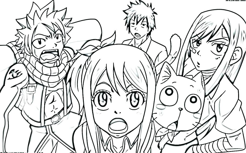 Fairy Tail Coloring Pages Anime at GetDrawings | Free download