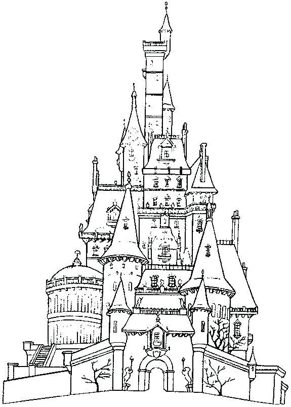 575x804 Coloring Page Castle Castle Coloring Pages Castle Coloring Book