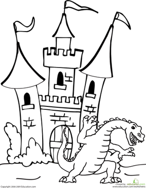 301x387 Dragon And Castle Worksheet