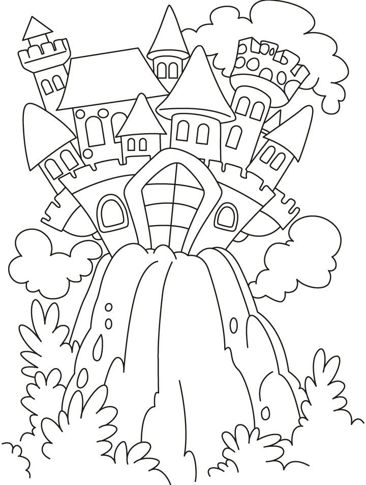 720x954 Fairy Castle Coloring Pages Download Free Fairy Castle Coloring