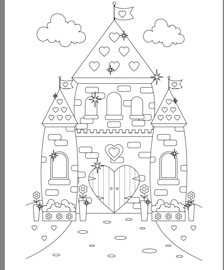 738x888 Princess Castle Colouring Page Castle Coloring Pages