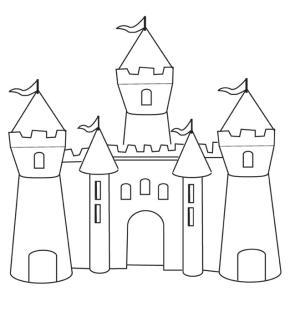 290x330 Sand Castle Coloring Page