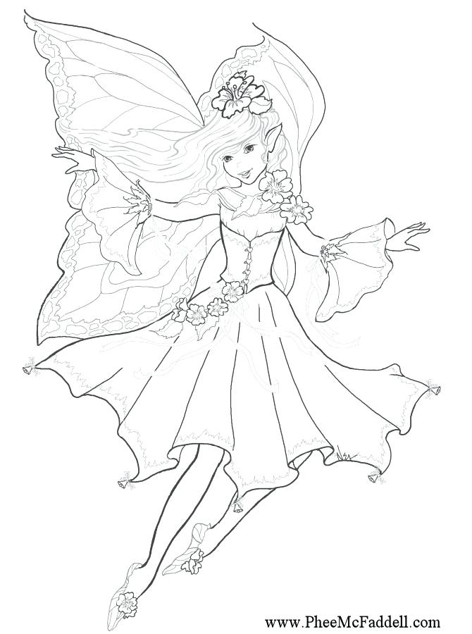 670x900 Tooth Fairy Coloring Page Stock Vector Illustration Of Page Free