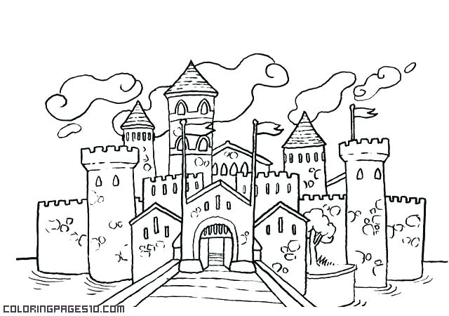 Fairy Tale Castle Coloring Page at GetDrawings com | Free for