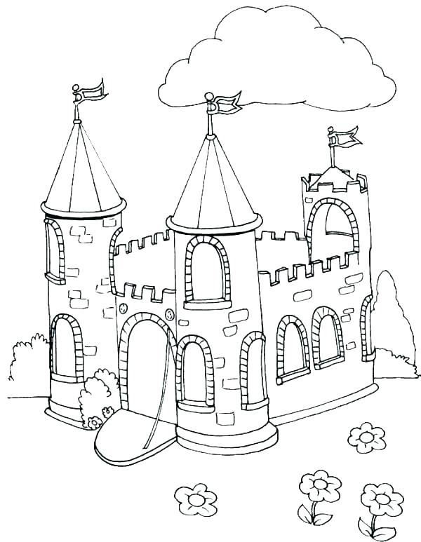 600x773 Castles Coloring Pages And Bailey Castle Colouring Fairy Tale