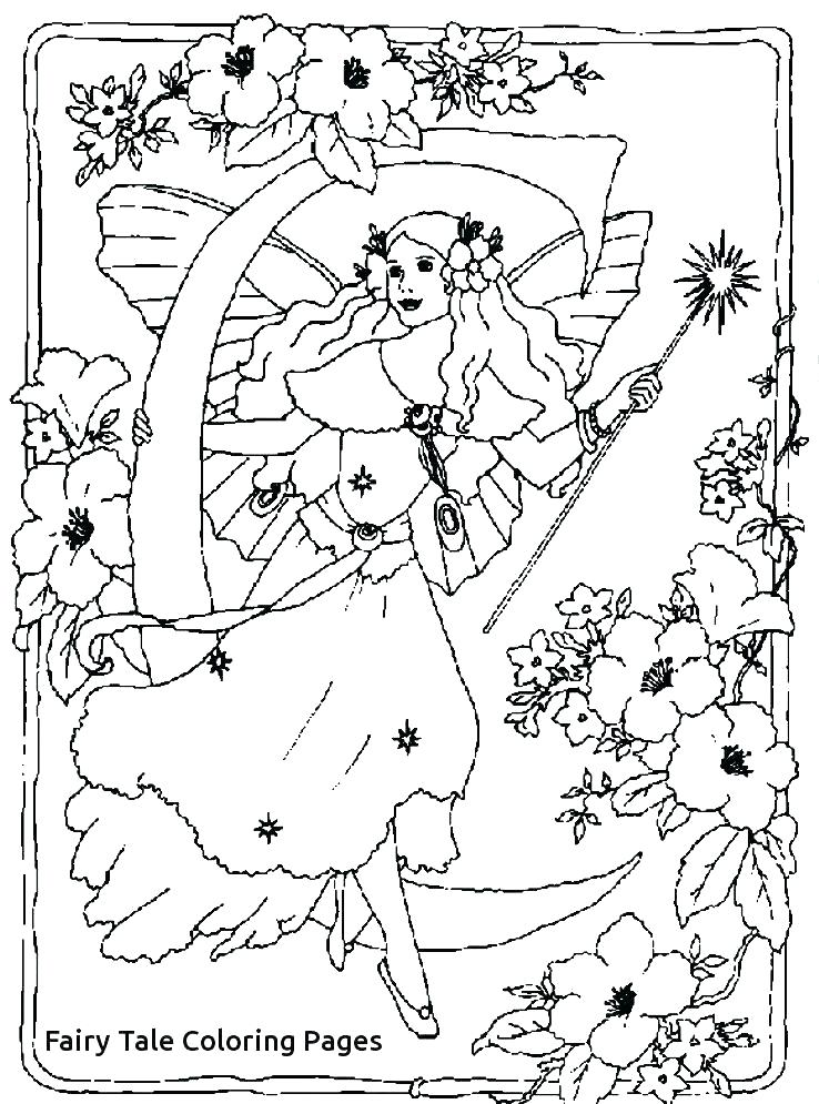 738x995 Fairy Tale Coloring Pages As Well As Fairy Tale Coloring Fairy