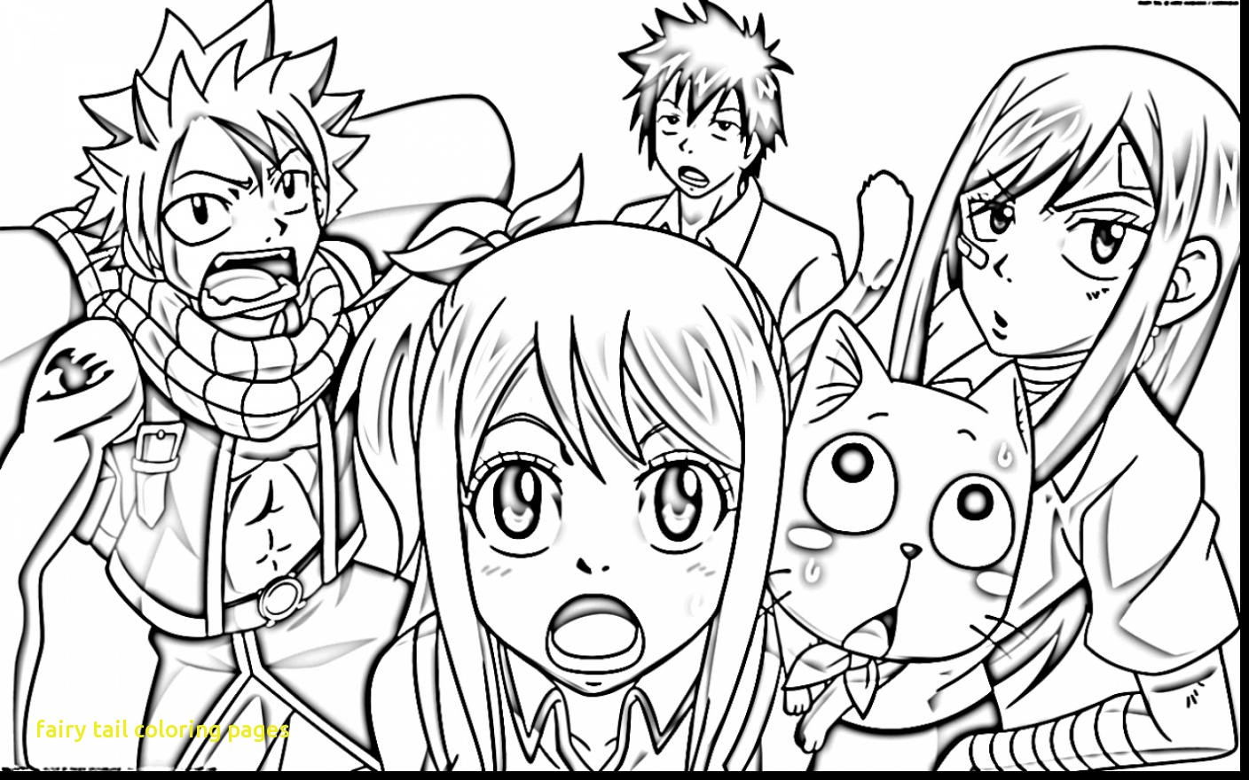 1408x880 Fairy Tail Coloring Pages With Spectacular Fairy Tail Happy Fairy