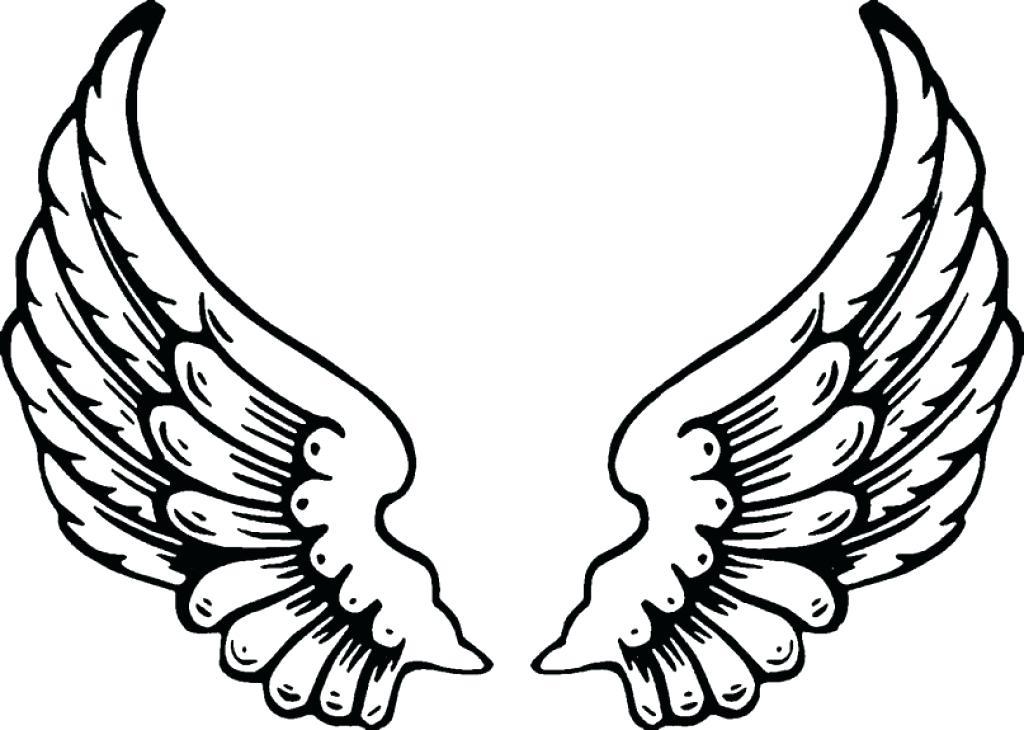 1024x730 Angel Wings Coloring Pages Free Angel Wings Printable Fairy Wings